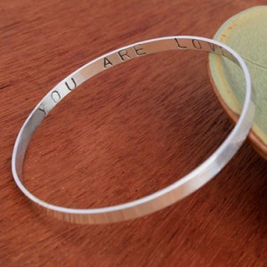 You are Loved Bangle Bracelet
