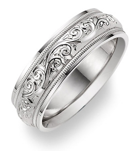 Wedding Rings For Men Silver
