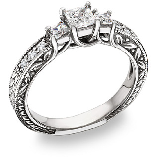 average cost of a wedding: the engagement ring